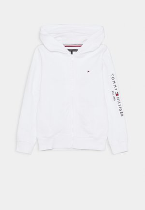 ESSENTIAL HOODED ZIP THROUGH - Collegetakki - white