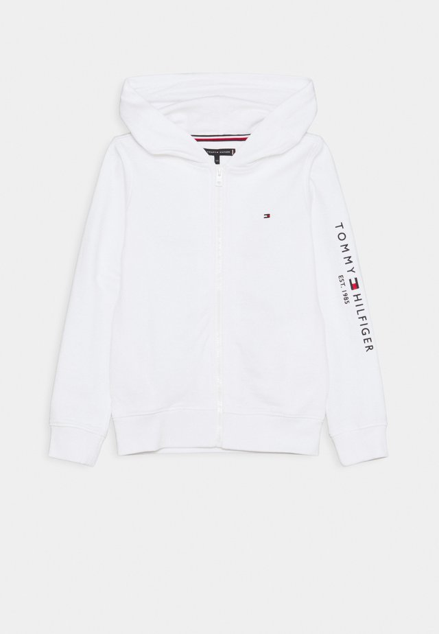 ESSENTIAL HOODED ZIP THROUGH - veste en sweat zippée - white
