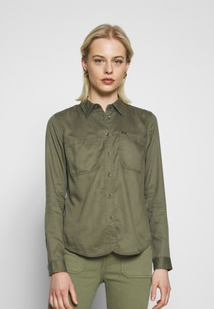 2 POCKET WORK SHIRT - Skjorte - olive green