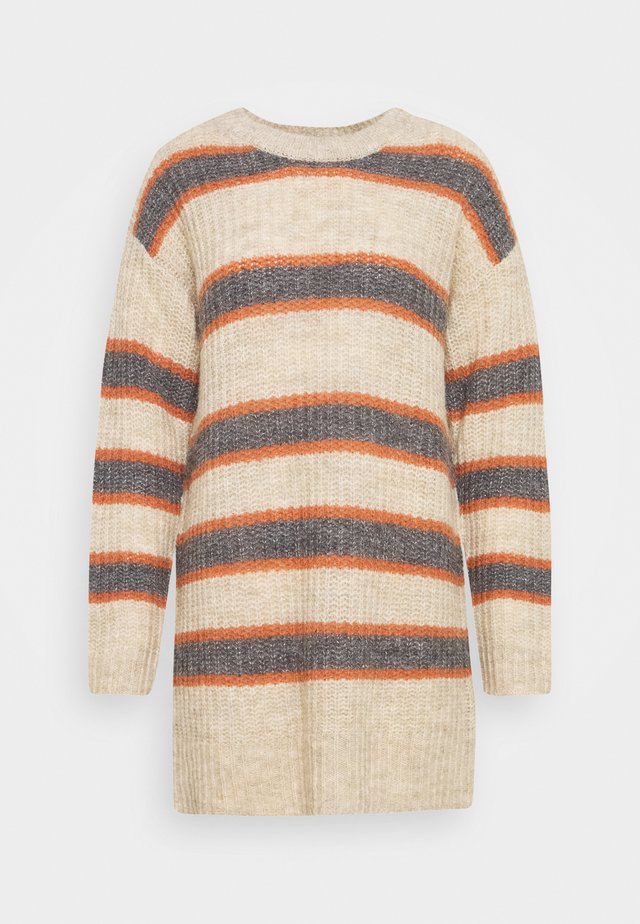 ALYSSALN STRIPED - Strikkegenser - rainy day melange