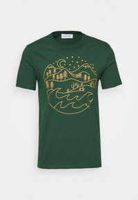 Pier One - T-shirt med print - dark green - 3
