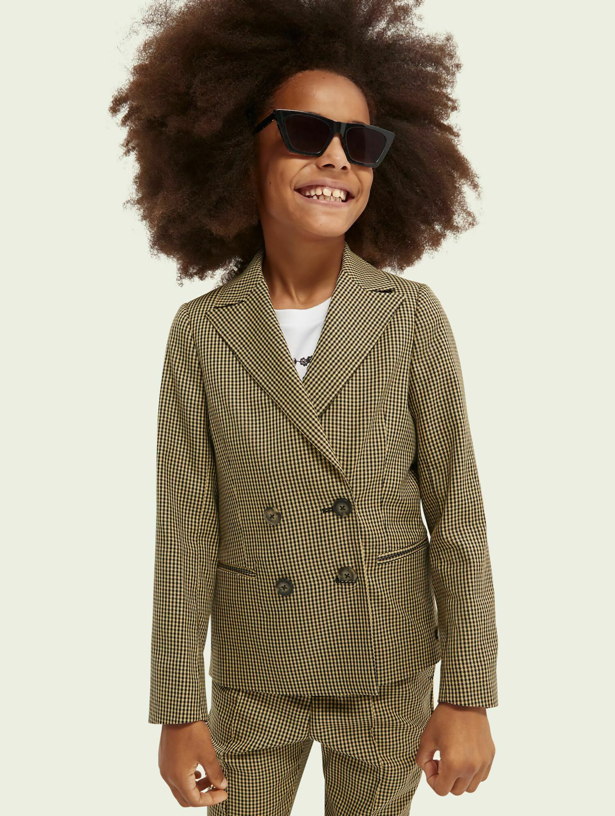 Enfant DOUBLE-BREASTED CHECKED - Blazer