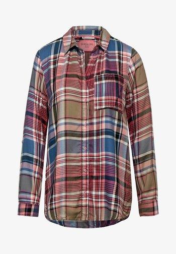 MIT KARO DESSIN - Button-down blouse - rosa