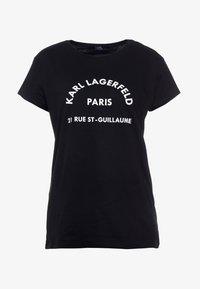 KARL LAGERFELD - ADDRESS TEE - Print T-shirt - black - 3