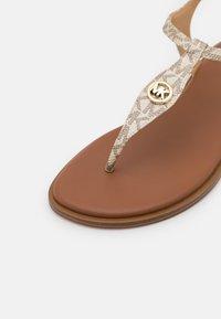 MICHAEL Michael Kors - MALLORY THONG - Sandals - pale gold - 6