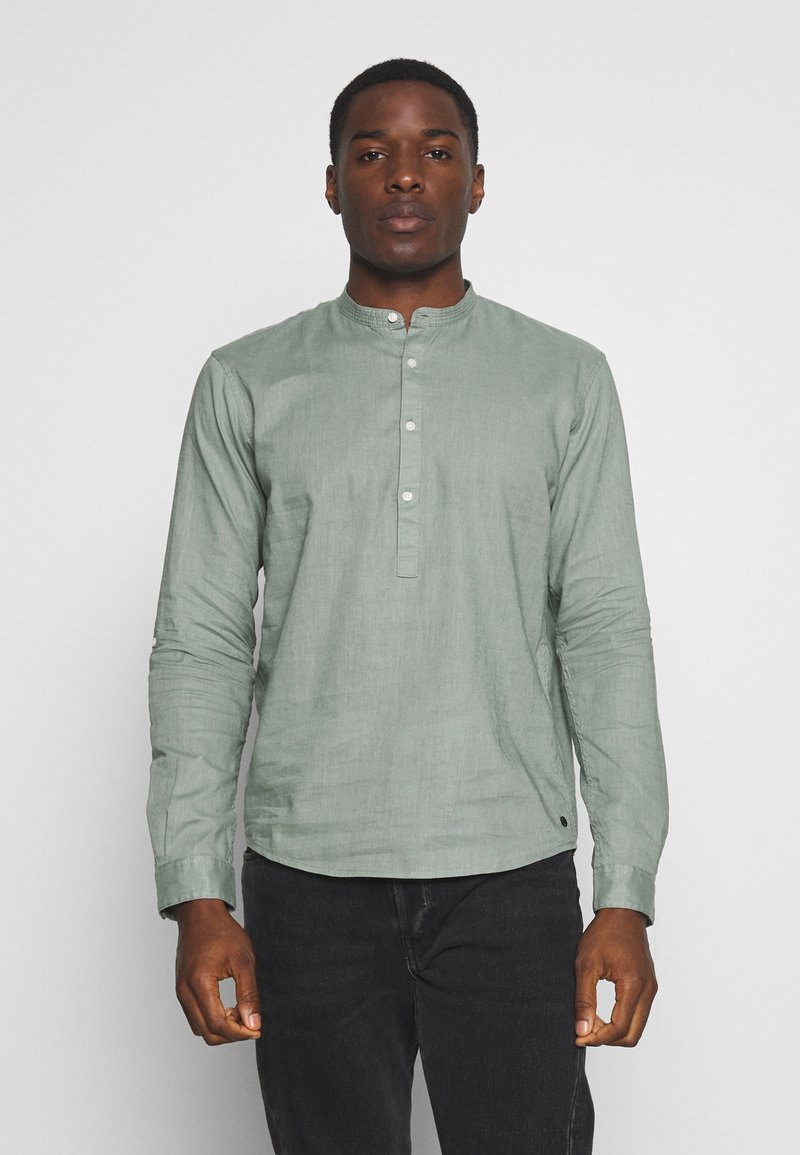 TOM TAILOR DENIM - MIX TUNIC - Košile - dusty leave green