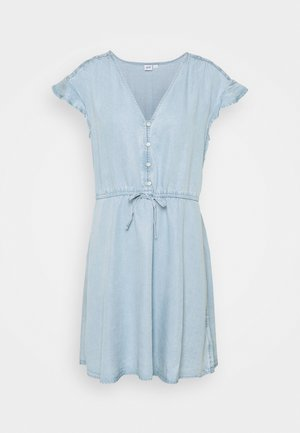 DRESS - Denní šaty - blue chambray