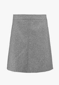 Marc O'Polo - SHORT SKIRT FEMININE CUTLINES - A-line skirt - middle stone melange - 3