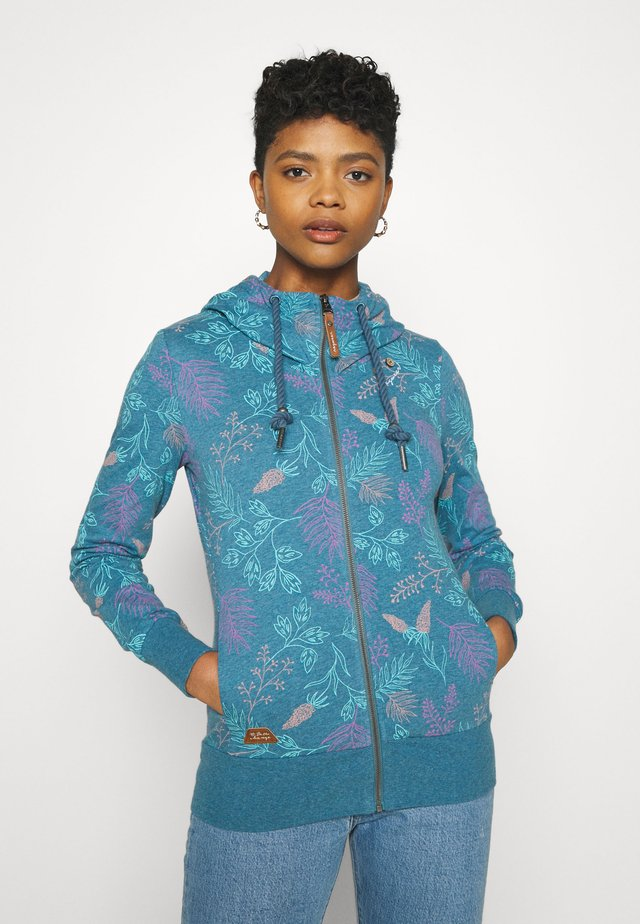 PAYA FLOWERS - Sweatjacke - blue