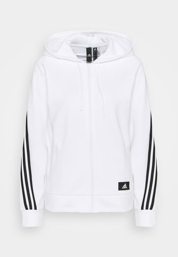 FI 3-STRIPES FULL ZIP REG SPORTS FUTURE ICONS PRIMEGREEN TRACK TOP HOODIE - Zip-up sweatshirt - white