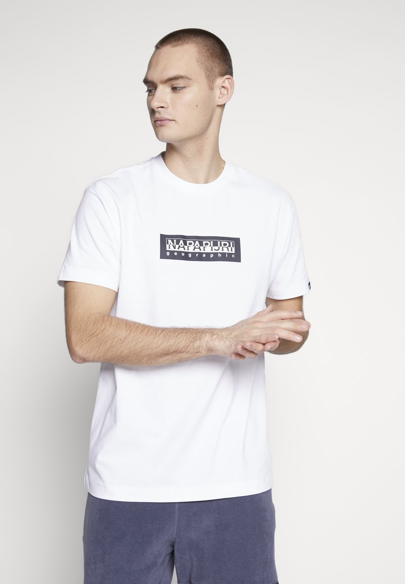 Napapijri The Tribe - SOX  - Print T-shirt - bright white