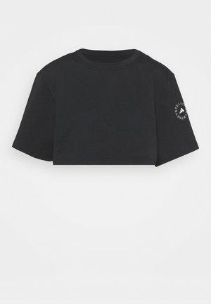 CROP TEE - Top sdlouhým rukávem - black