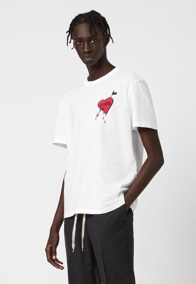 BLEEDING HEART - Print T-shirt - white