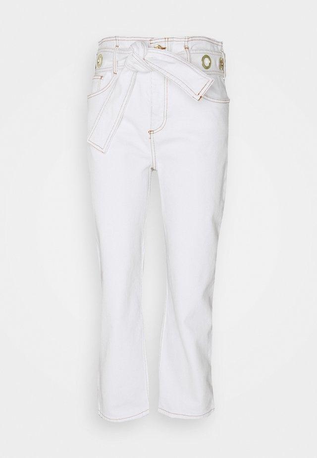 PERSAN - Jeans straight leg - ecru
