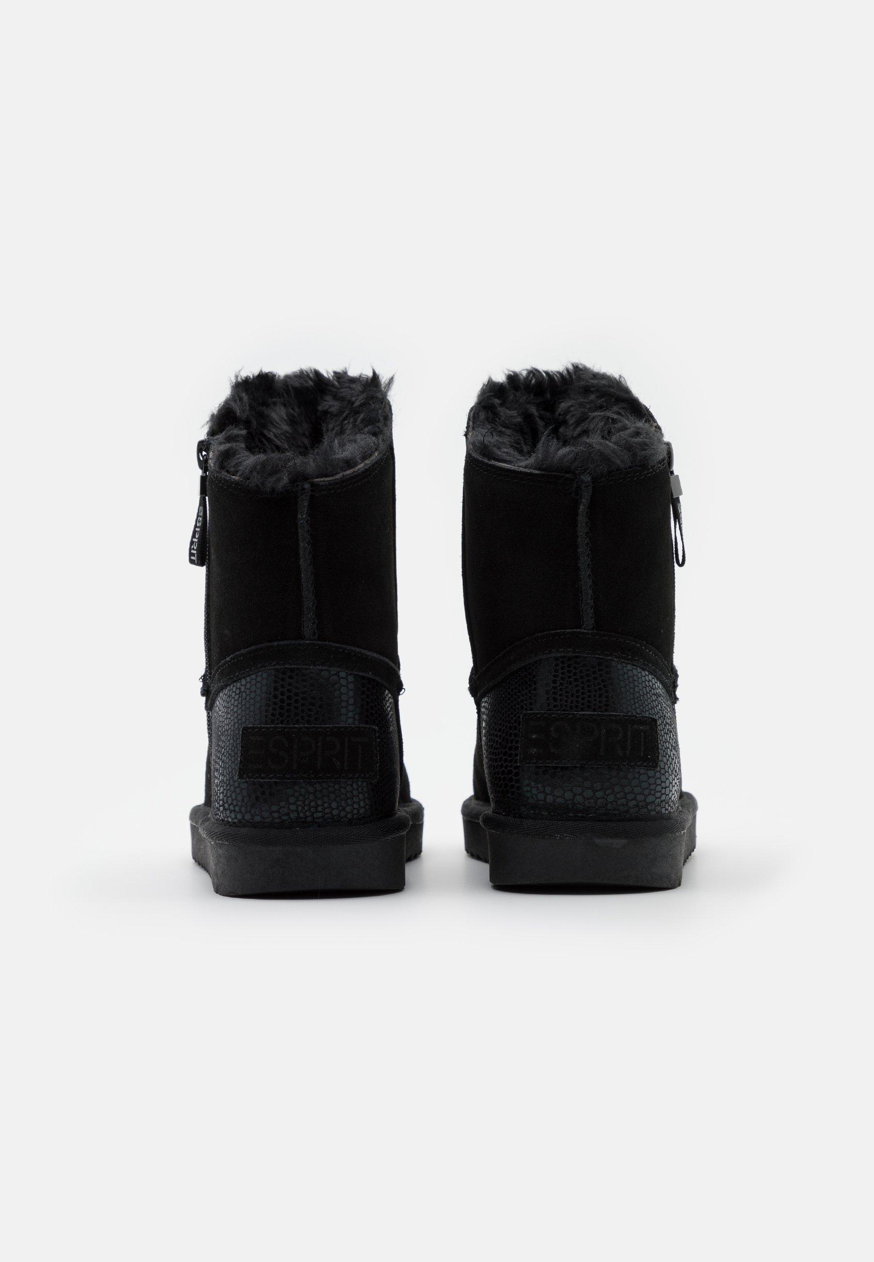 Esprit Luna Croco - Stiefelette Black/schwarz
