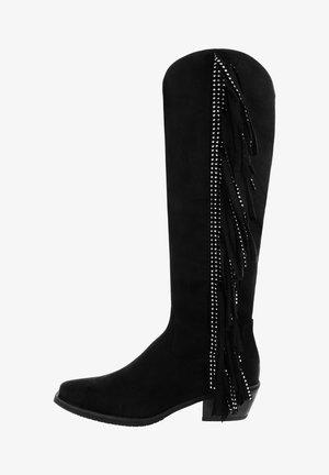 STIFFE - Kovbojské/motorkářské boty - black