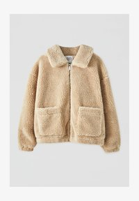 PULL&BEAR - Fleece jacket - camel - 4