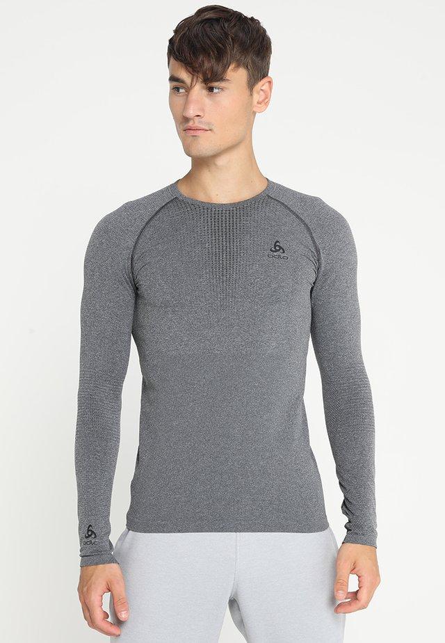 CREW NECK PERFORMANCE WARM - Undershirt - grey melange/black