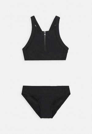 ZIP FRONT TANKINI SET - Bikiny - black