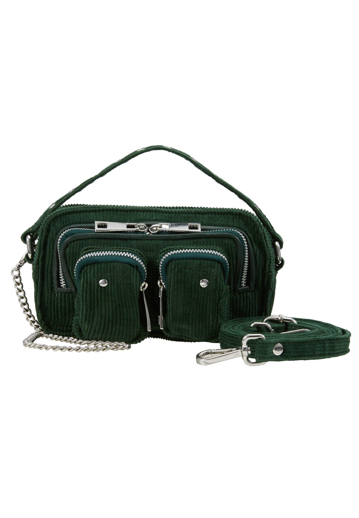 Núnoo HELENA CORDUROY - Håndveske - green/grønn YzTcJd3LBPYV3s8