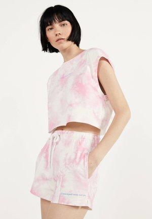 MIT TIE-DYE - Shorts - neon pink