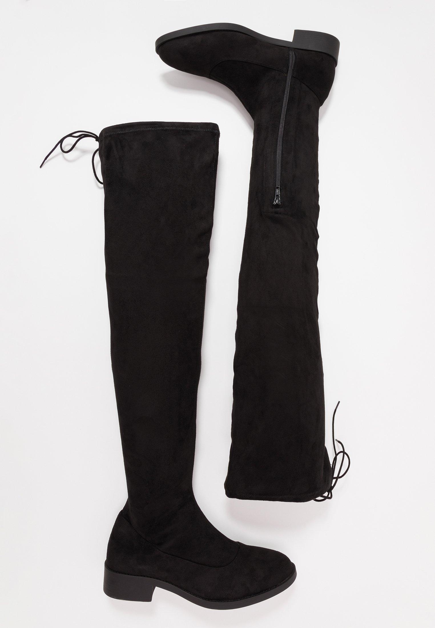 OLIVIA Overknee laarzen black