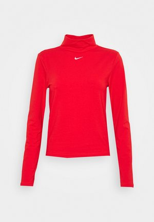 MOCK TOP - Long sleeved top - chile red/white