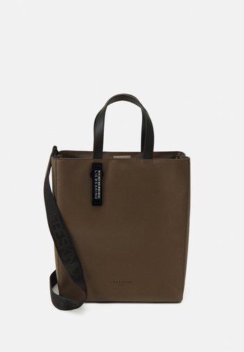 PAPERBAG - Handbag - deep taupe