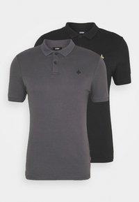 Zign - 2 PACK - Polo shirt - black/dark grey - 4