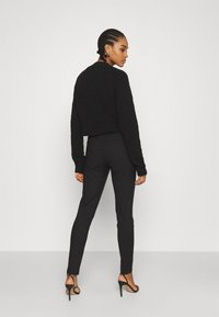 Nly by Nelly - DRESSED SLIM PANTS - Trousers - black - 2