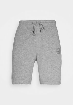 JJI SHARK - Shorts - light grey melange
