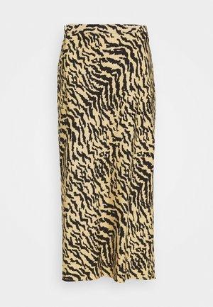 ZEBRA BIAS SKIRT - Pencil skirt - sand