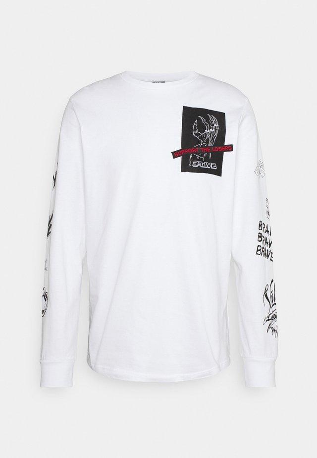 T-JUST-LS-A9 MAGLIETTA UNISEX - Pitkähihainen paita - white