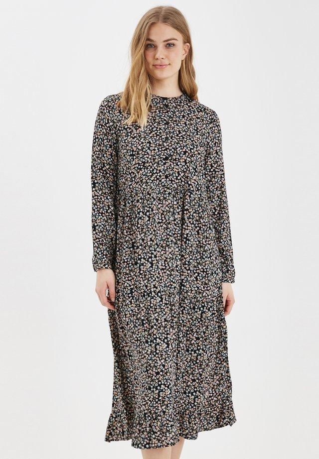 BYISOLE LONG DRESS - LIGHT WOVEN - Shirt dress - black combi 1