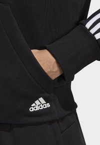 adidas Performance - MUST HAVES 3-STRIPES FRENCH TERRY HOODIE - Zip-up hoodie - black - 4