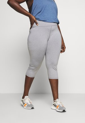 CURVE ACTIVE CORE CAPRI - 3/4 sports trousers - mid grey marle