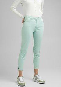Esprit - MR CAPRI - Trousers - light aqua green - 0