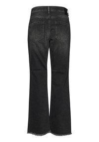 PULZ - PZLIVA  - Flared Jeans - black denim - 7