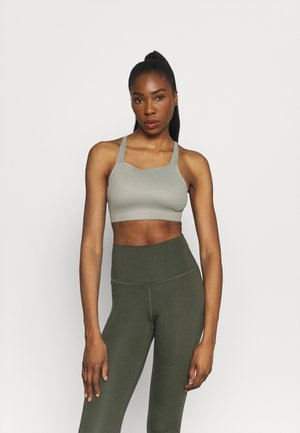 LUXE BRA - Medium support sports bra - light army/stone