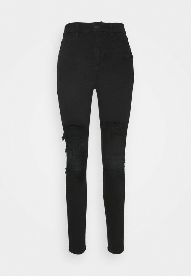 CURVY HIRISE JEGGING - Straight leg jeans - black