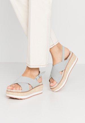 RUSSI - Platform sandals - blue