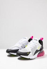 Nike Sportswear - AIR MAX 270 - Trainers - white/volt/black/laser fuchsia - 2