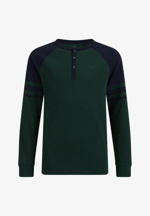 JONGENS MET COLOURBLOCK - T-shirts print - moss green