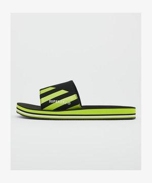 Pool slides - black/lime