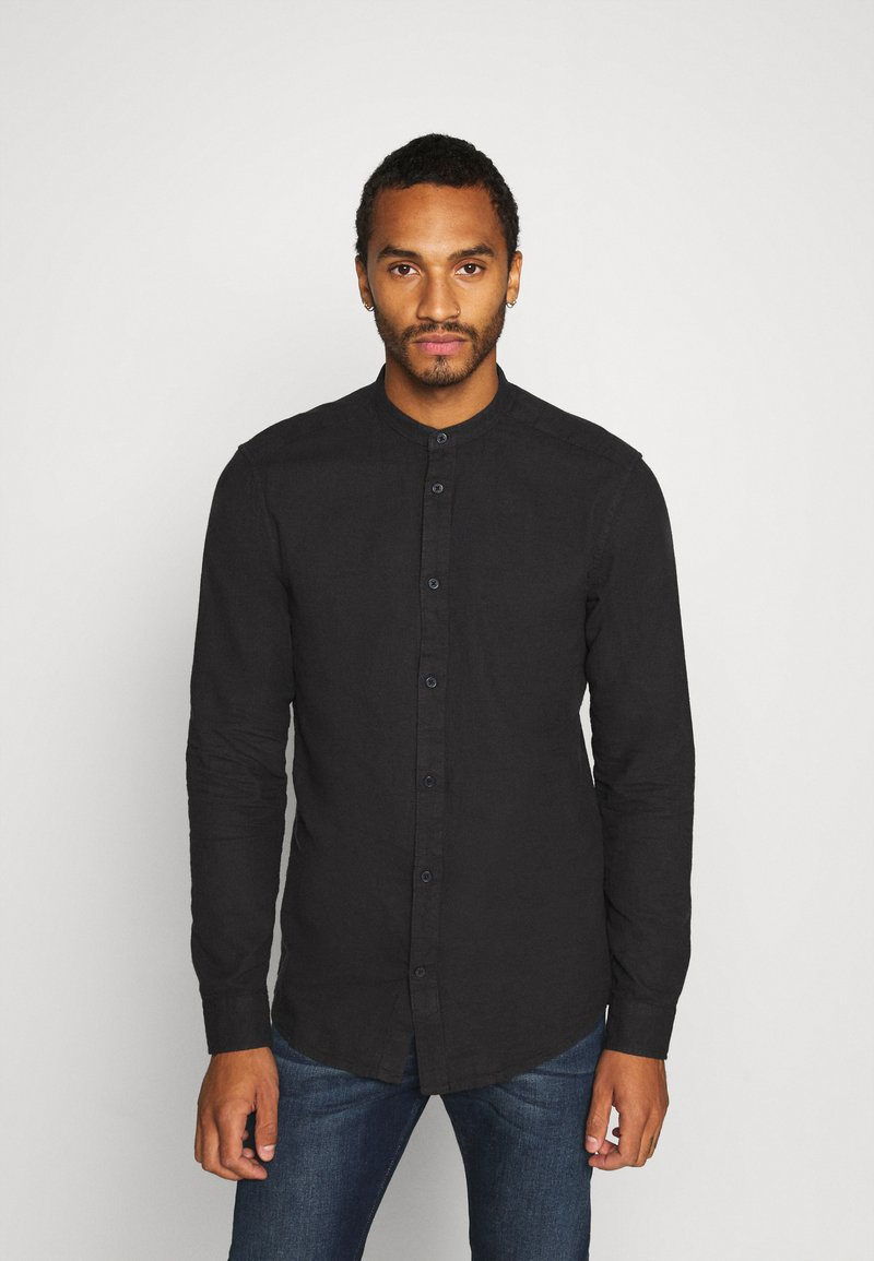 Only & Sons - ONSBRENT DOBBY MANDARINE - Shirt - dark navy