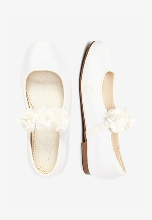PINK 3D FLOWER BALLET SHOES (OLDER) - Ballerinasko m/ rem - white