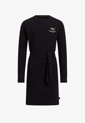 MET TAPEDETAIL - Korte jurk - black