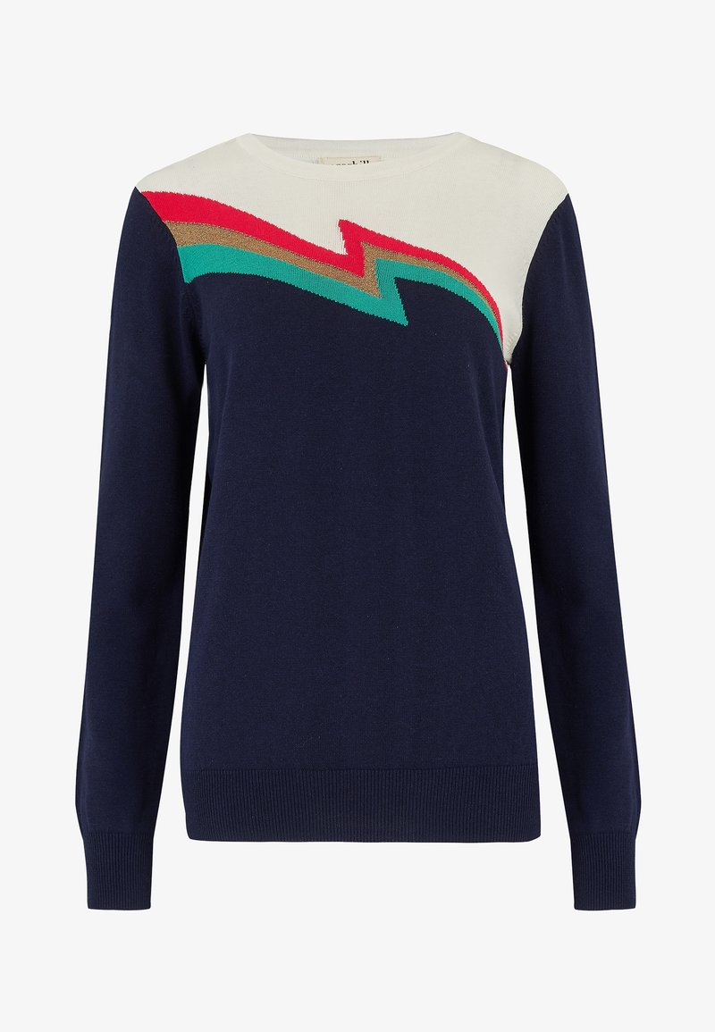 Sugarhill Brighton SWEATER RITA FLASH SPLIT - Sweatshirt - navy/dunkelblau 3UkI3e