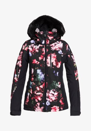 Waterproof jacket - true black blooming party