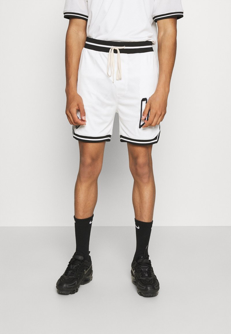 The Couture Club - VARSITY BADGED MESH DROP CROTCH SHORTS - Shorts - off white